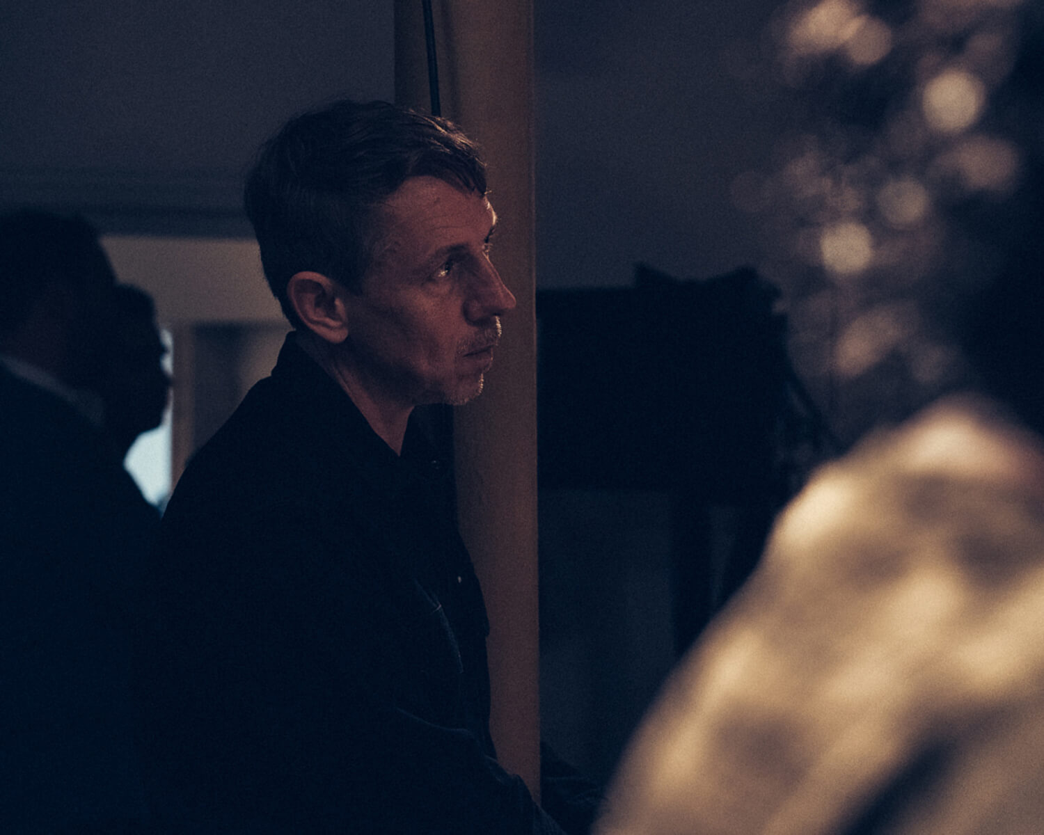 Gilles Peterson watches Jazz  by lifestyle photographer Tim Cole
