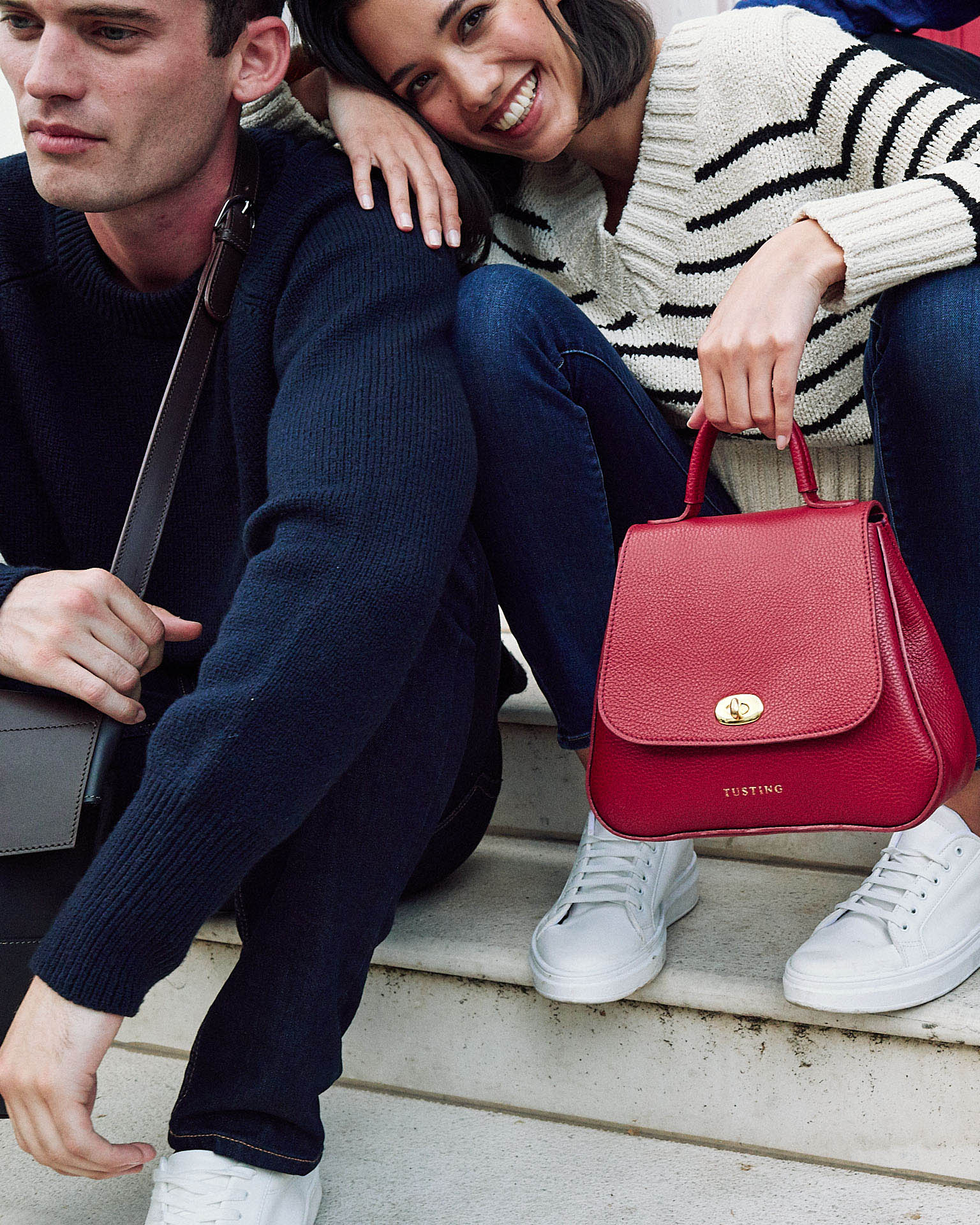 Tusting group,  leather bags, by lifestyle photographer