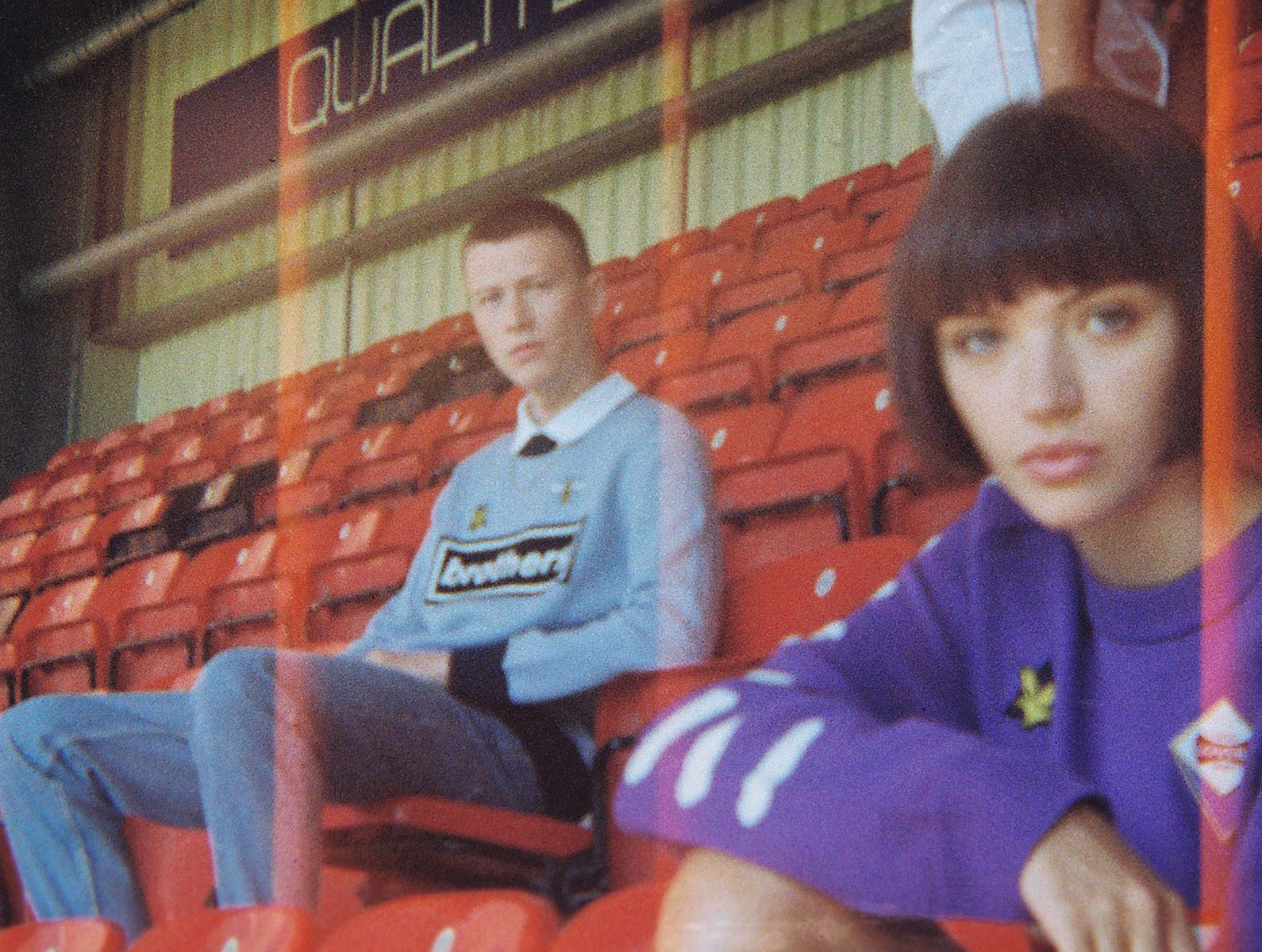 110 neg, 1 girl, 1 lad in LFC ground by Tim Cole