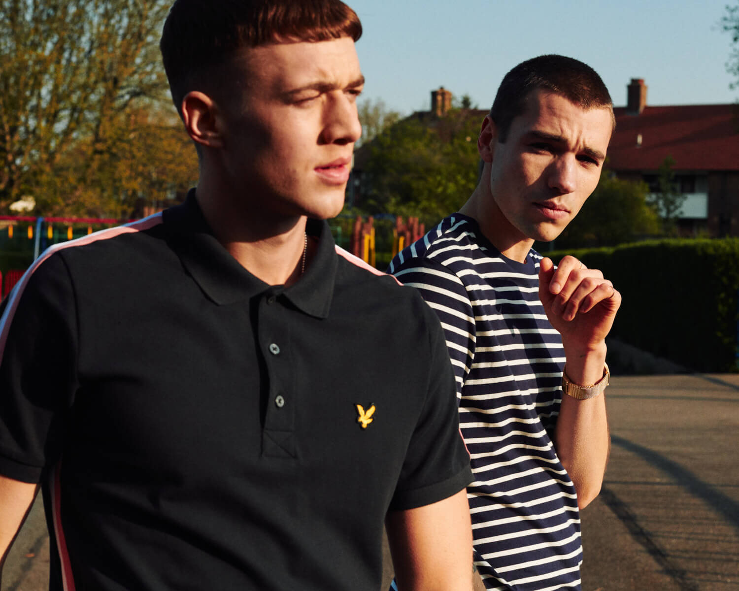 Lyle and Scott lads in sun by  lifestyle photographer Tim Cole