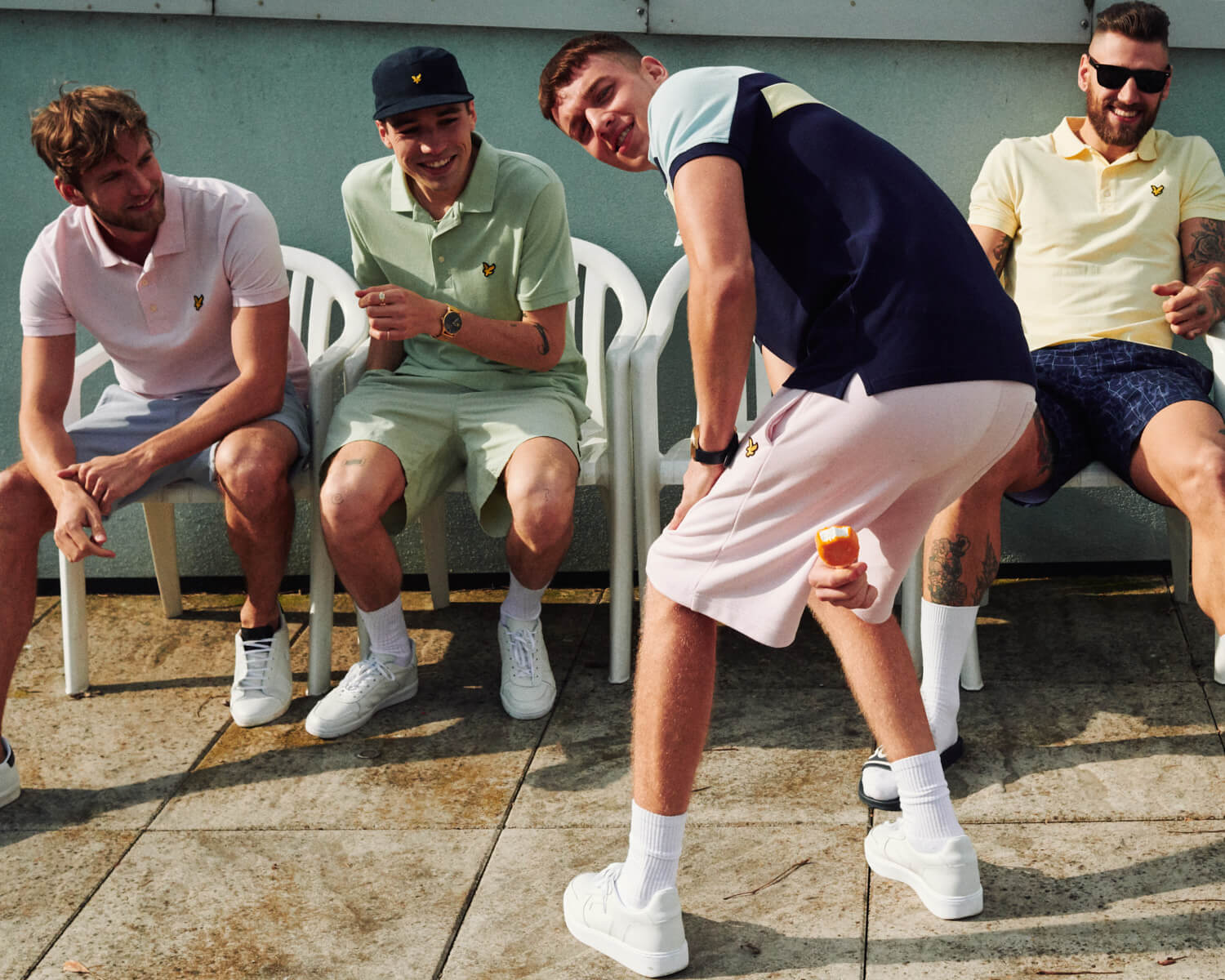 Lyle and Scott lads mess about  by lifestyle photographer Tim Cole