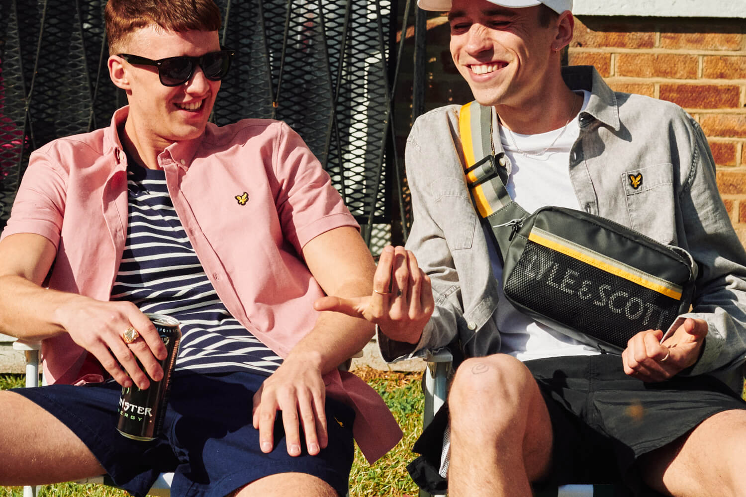 Two lads,  deck chairs on estate, lifestyle photographer Tim Coe