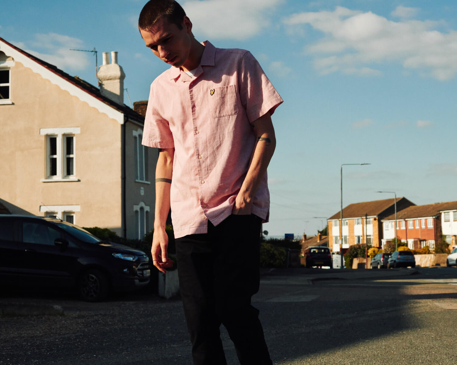Lad in pink by lifestyle photographer London Tim Cole