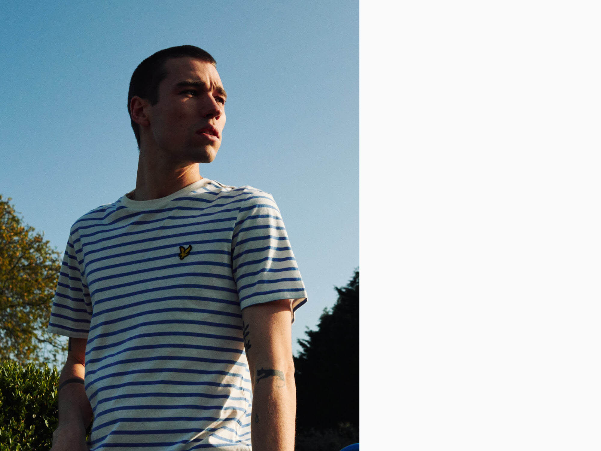 Lyle and Scott lad, dawn light by lifestyle photographer Tim Cole