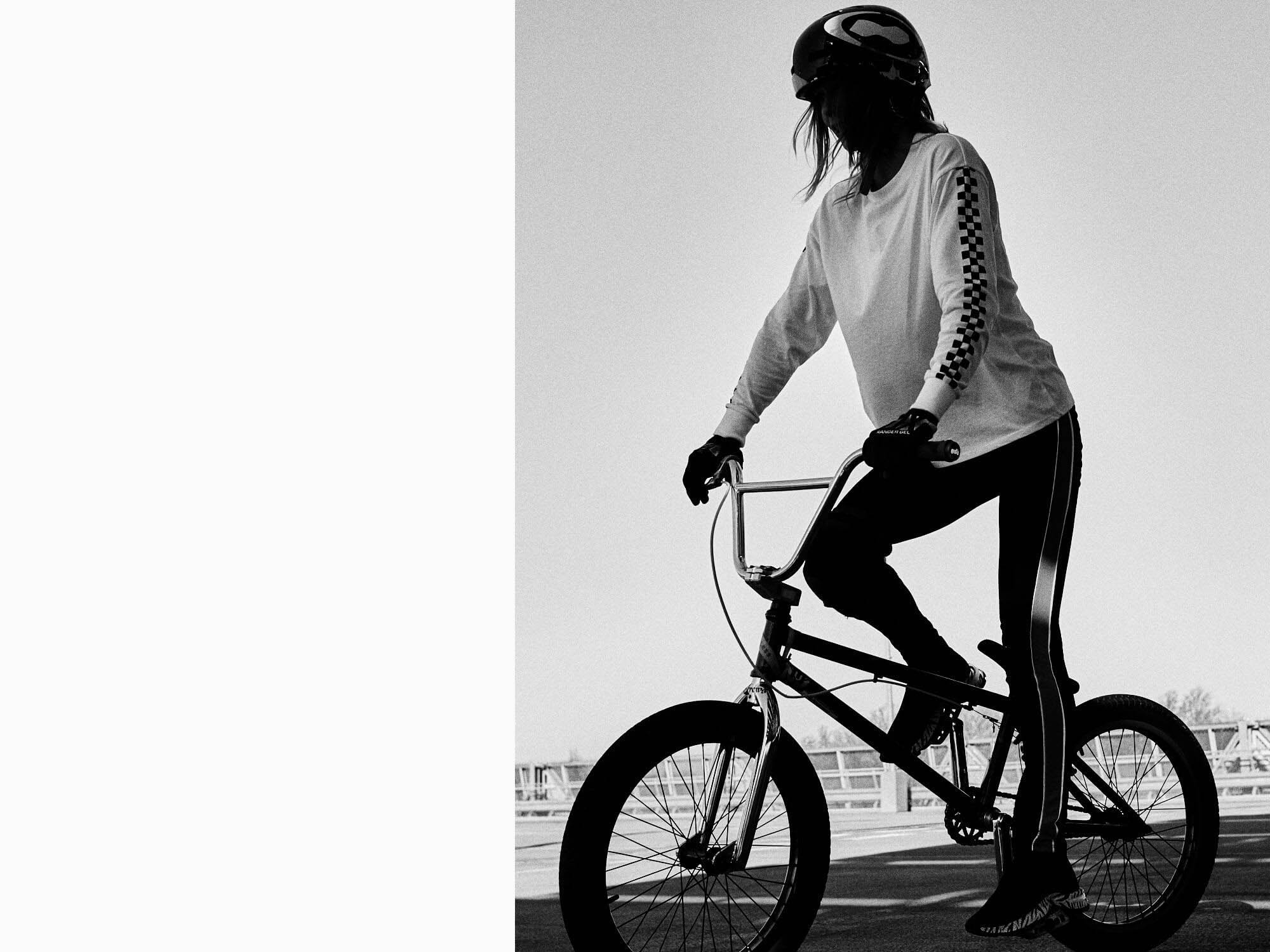 girl silhouette,  bike by lifestyle photographer Tim Cole