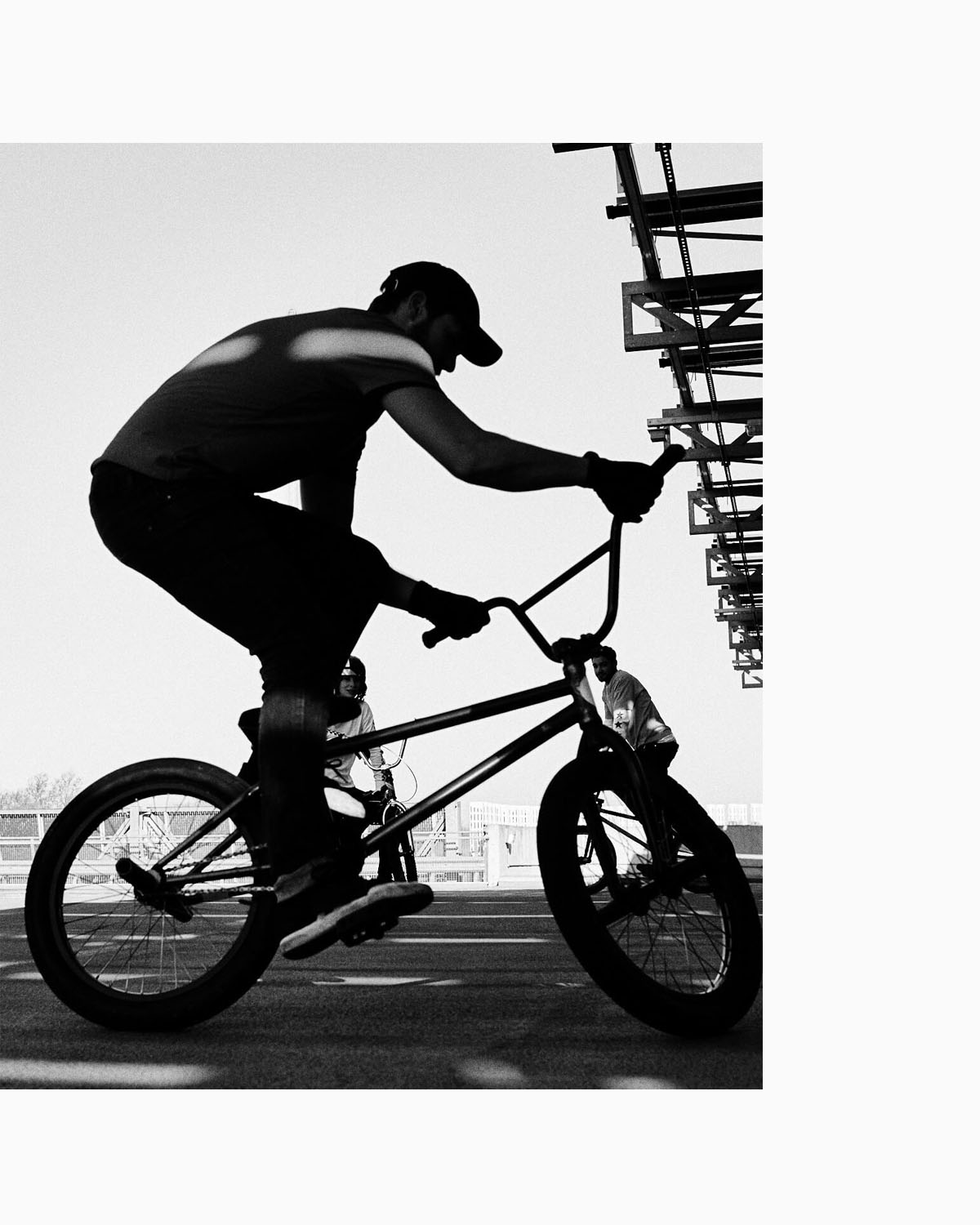 lad silhouette,  bike by lifestyle photographer Tim Cole
