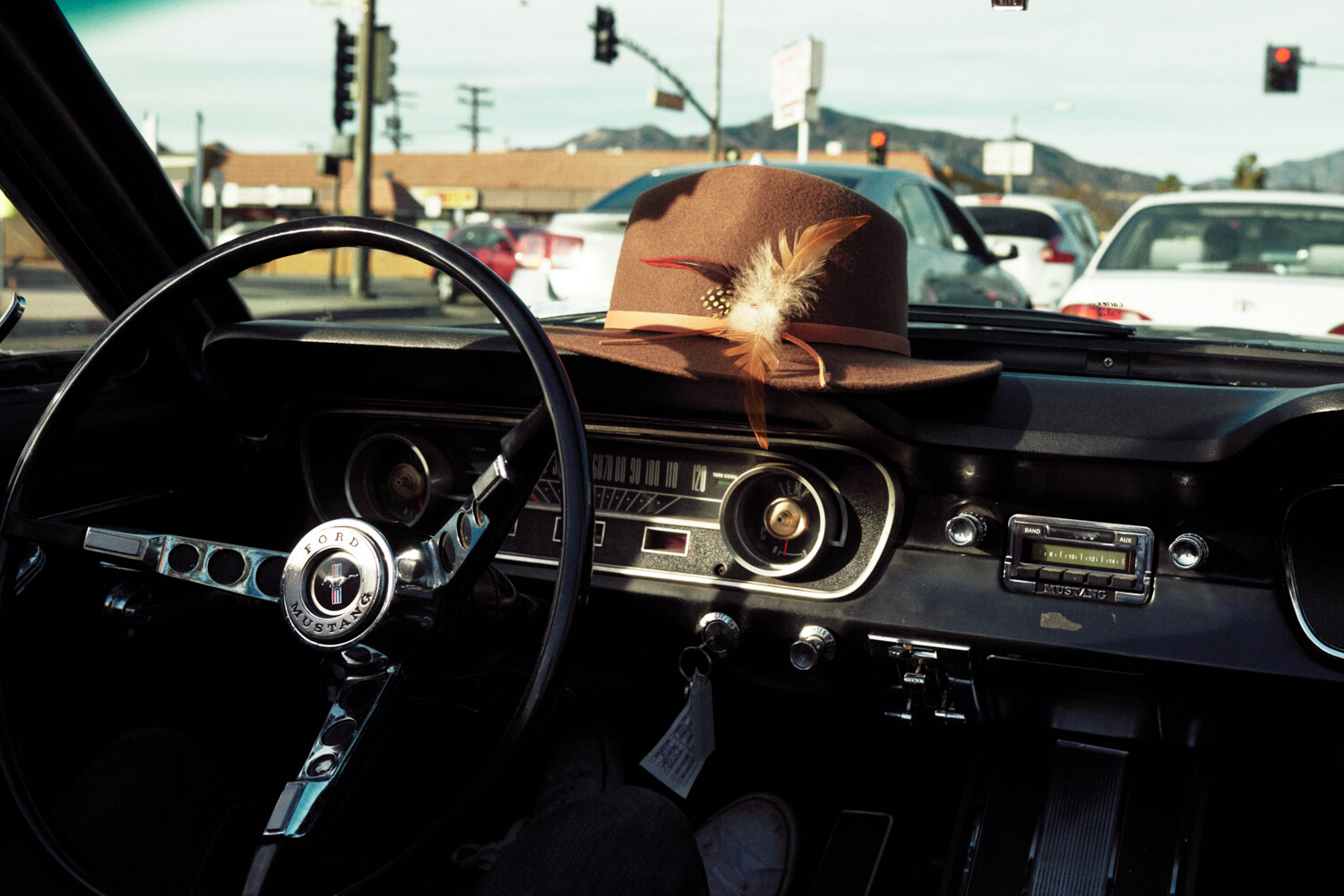 Cowboy had on dash by lifestyle photographer Tim Cole
