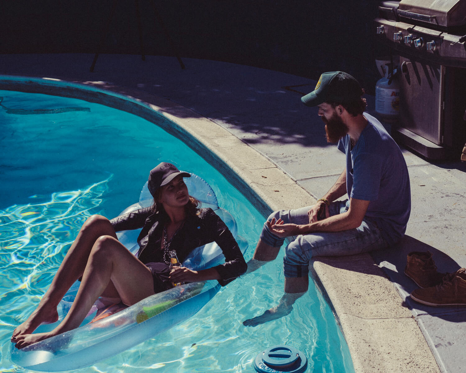 Poolside, hipsters by lifestyle photographer Tim Cole