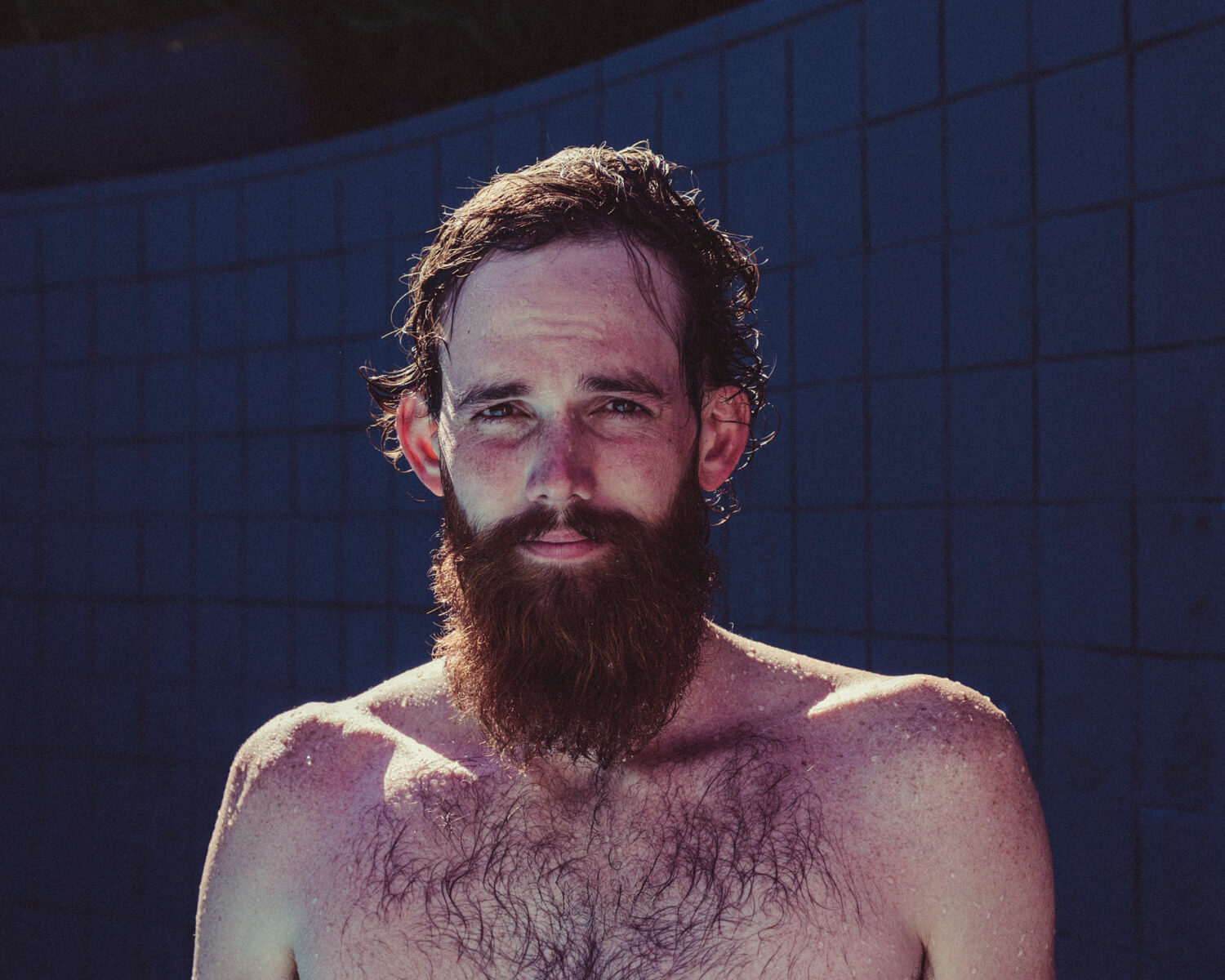 wet bearded hipster, by lifestyle photographer Tim Cole
