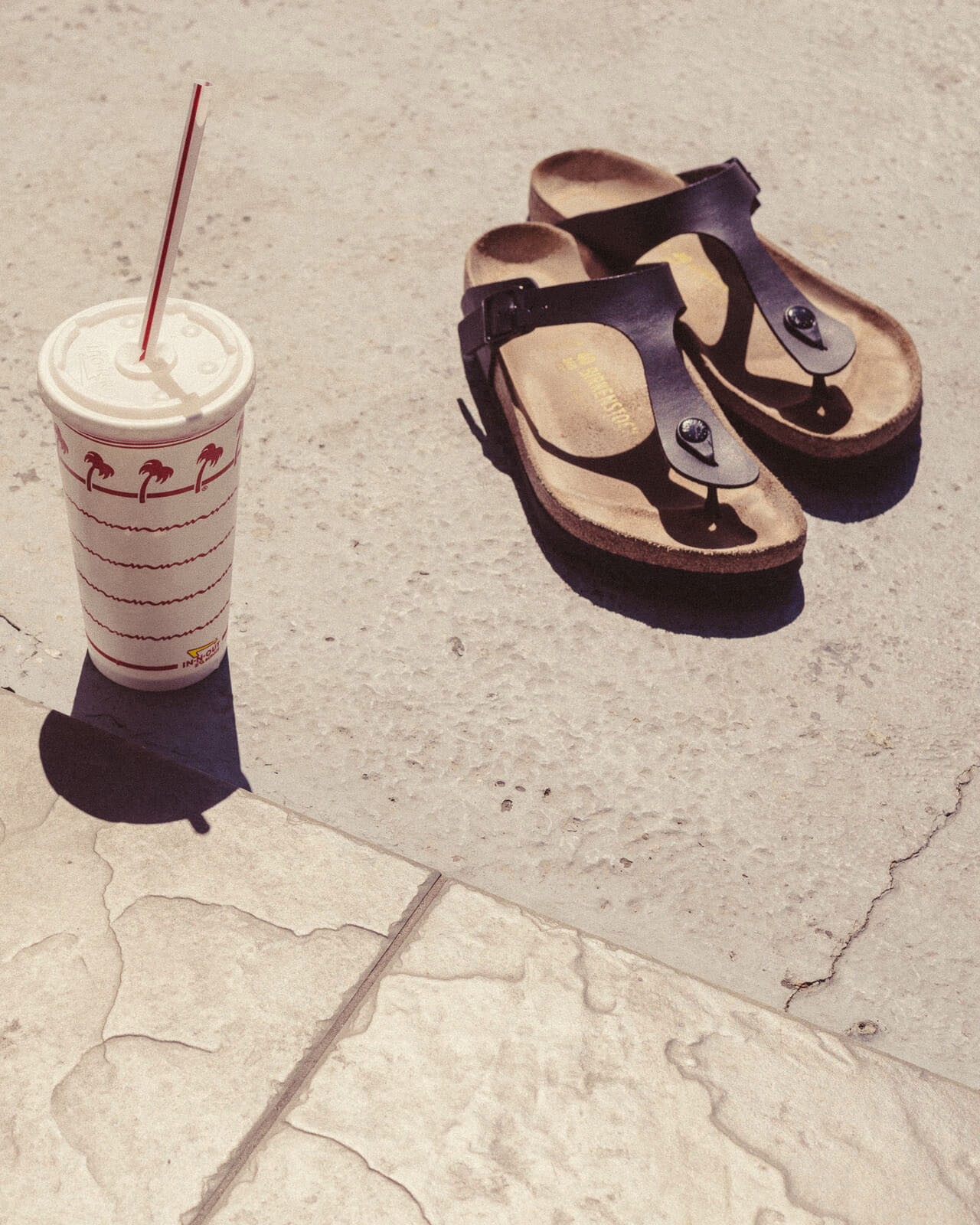 Sandals and in-and-out  by lifestyle photographer Tim Cole