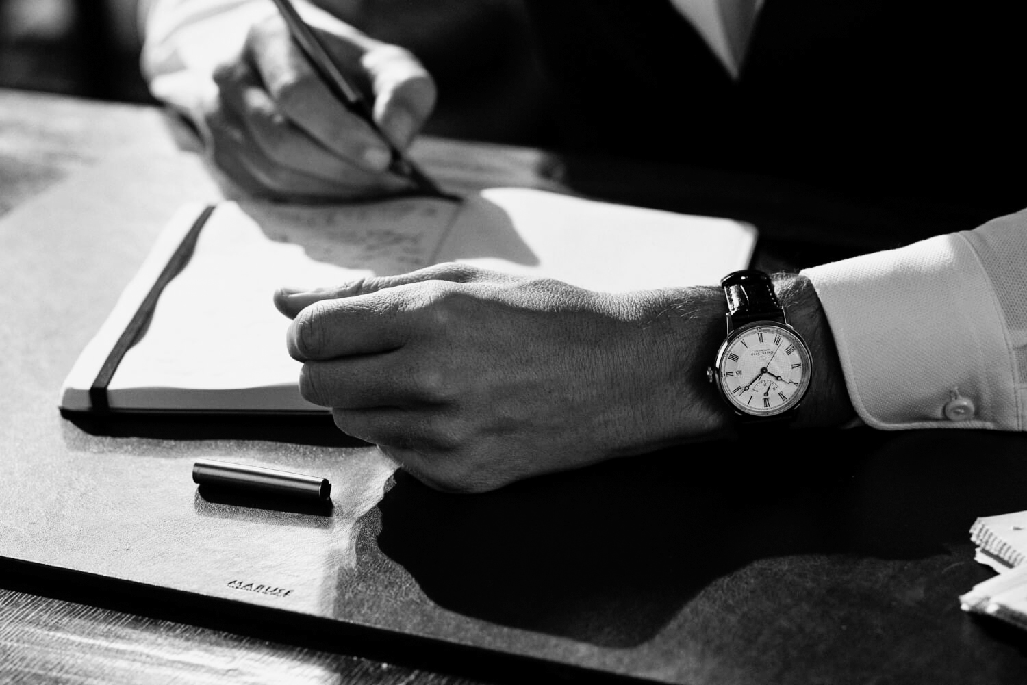Orient watch on study desk by lifestyle photographer Tim Cole