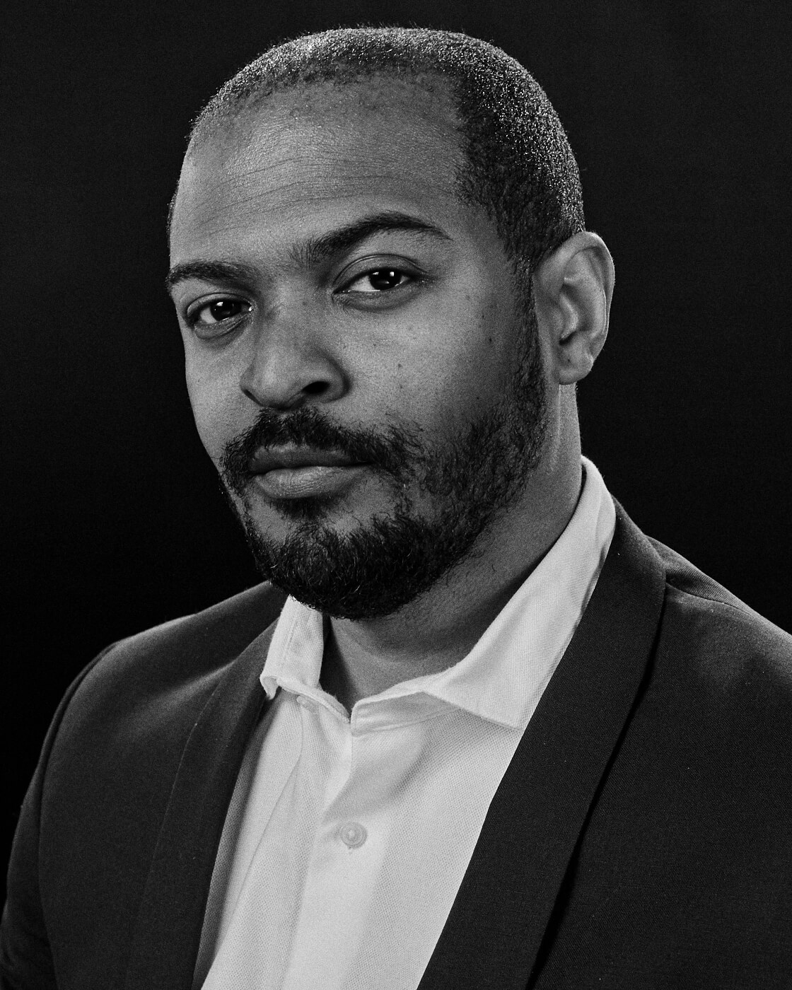 B/W, Noel Clarke,  by lifestyle photographer Tim Cole
